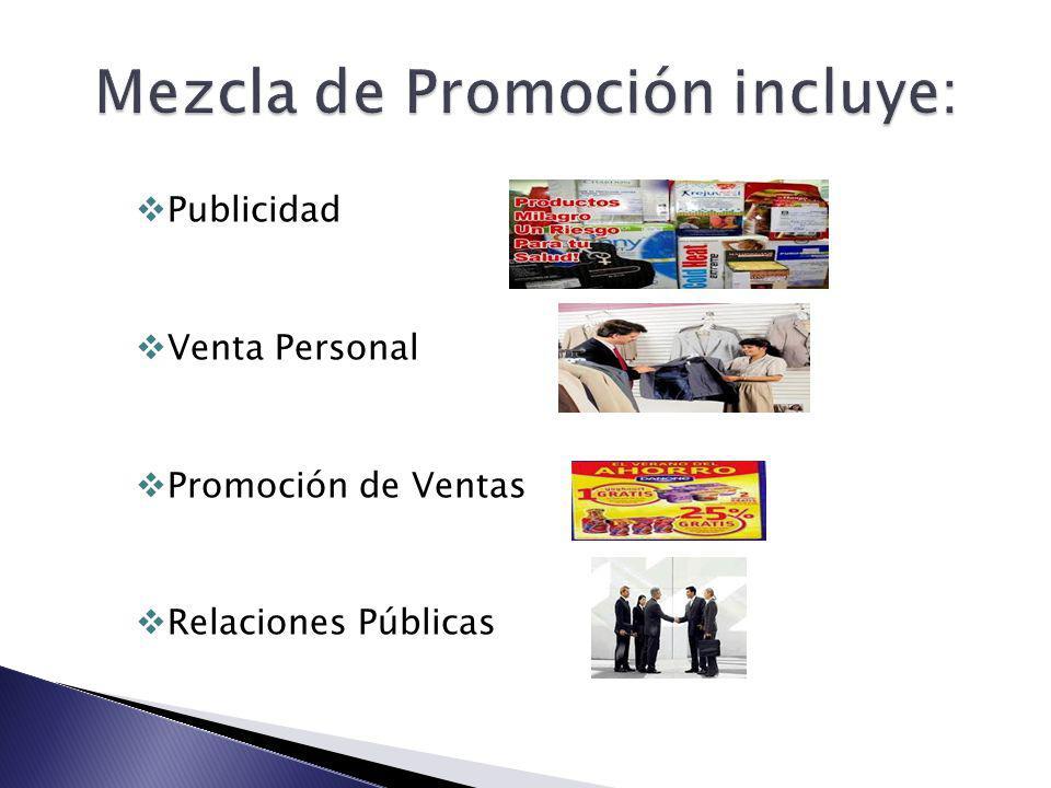 Publicidad Venta Personal Promoción de Ventas Relaciones Públicas