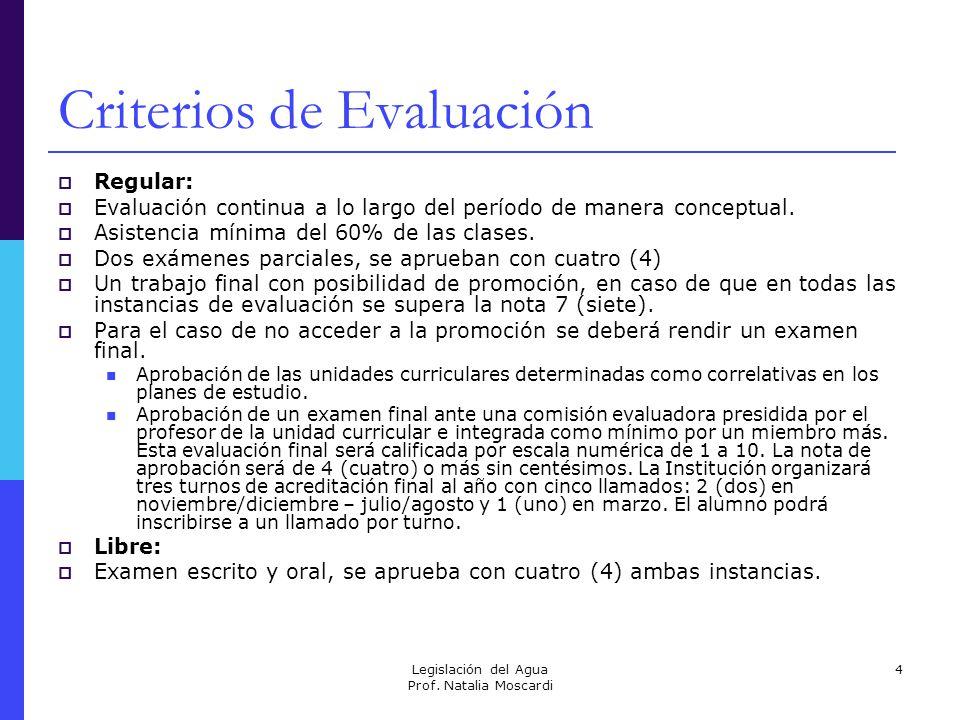 Legislación del Agua Prof.Natalia Moscardi 15 Sentencias Ejercicios 1.
