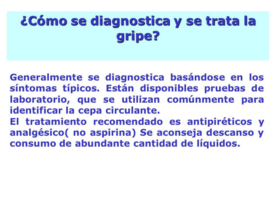 Generalmente se diagnostica basándose en los síntomas típicos.