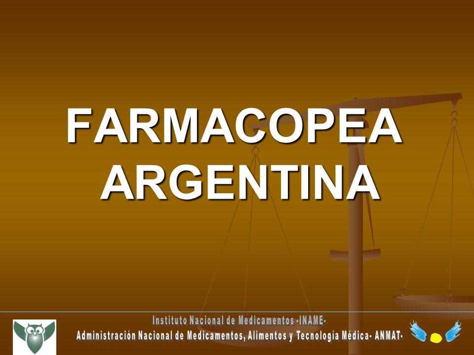 FARMACOPEA ARGENTINA