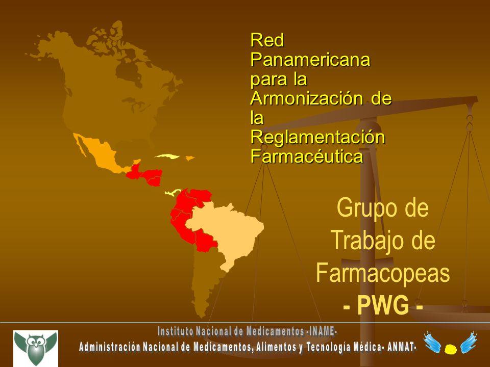 Red Panamericana para la Armonización de la Reglamentación Farmacéutica Grupo de Trabajo de Farmacopeas - PWG -