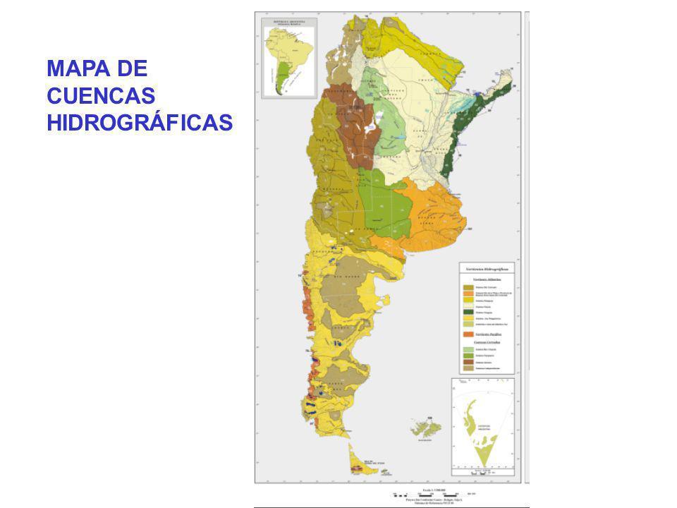 MAPA DE CUENCAS HIDROGRÁFICAS MAPA DE CUENCAS HIDROGRÁFICAS