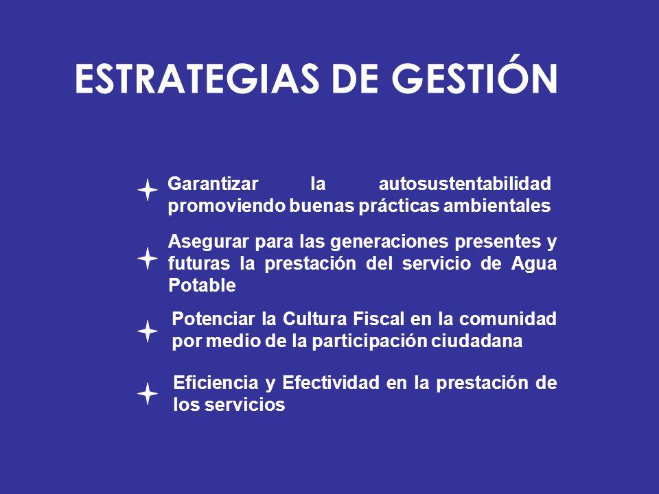 Garantizar la autosustentabilidad promoviendo buenas prácticas ambientales Potenciar la Cultura Fiscal en la comunidad por medio de la participación c