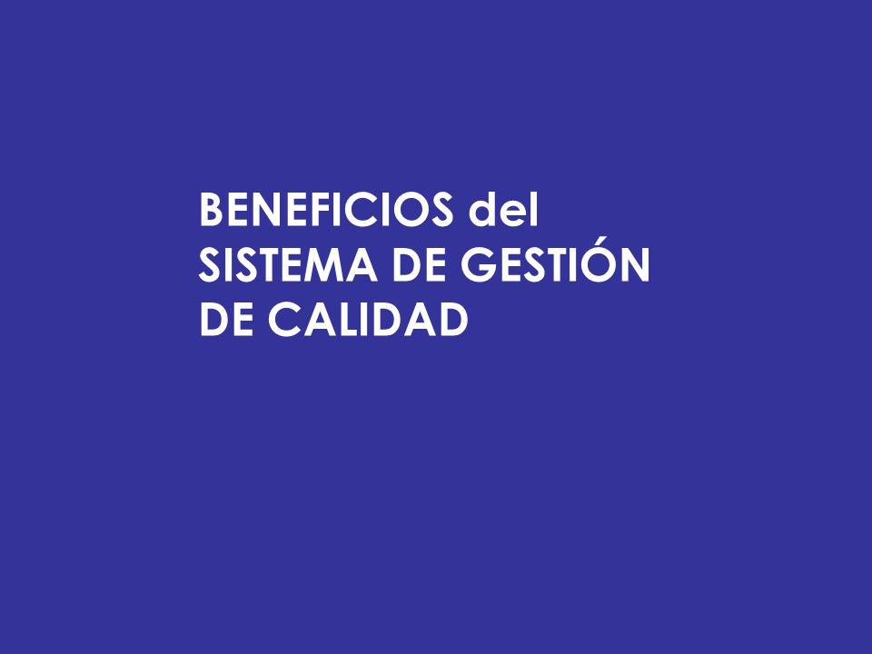 BENEFICIOS del SISTEMA DE GESTIÓN DE CALIDAD