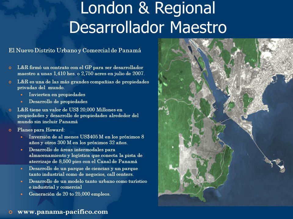 El Nuevo Distrito Urbano y Comercial de Panamá L&R firmó un contrato con el GP para ser desarrollador maestro a unas 1,410 hes. o 2,750 acres en julio