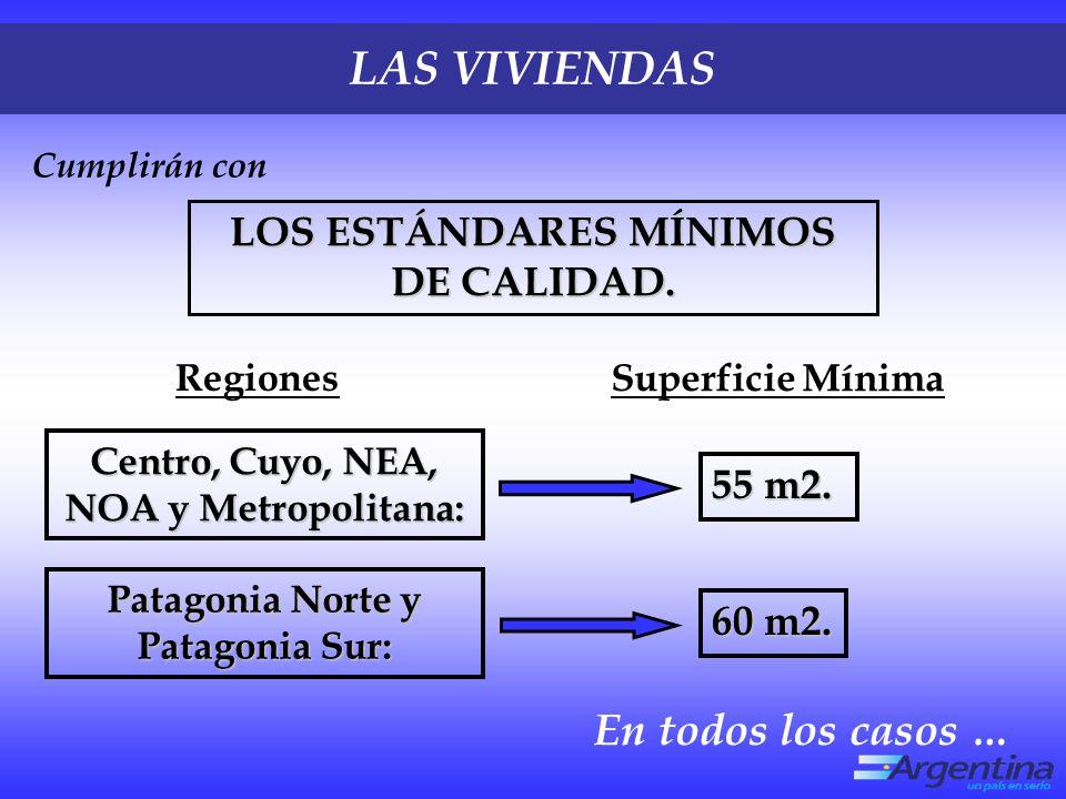 LOS ESTÁNDARES MÍNIMOS DE CALIDAD.