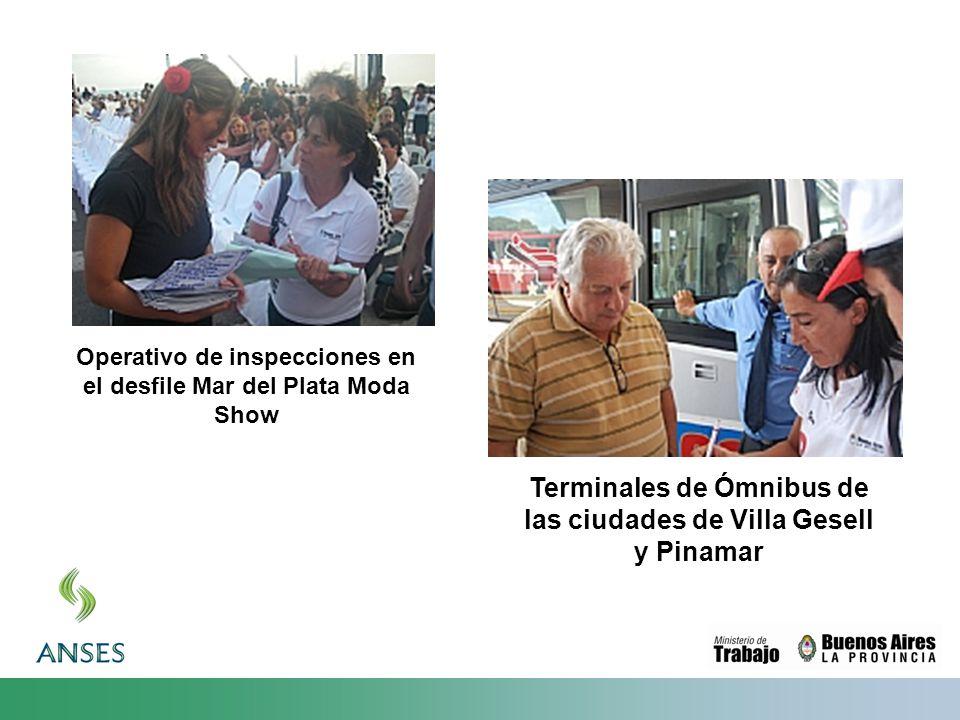 Operativo de inspecciones en el desfile Mar del Plata Moda Show Terminales de Ómnibus de las ciudades de Villa Gesell y Pinamar