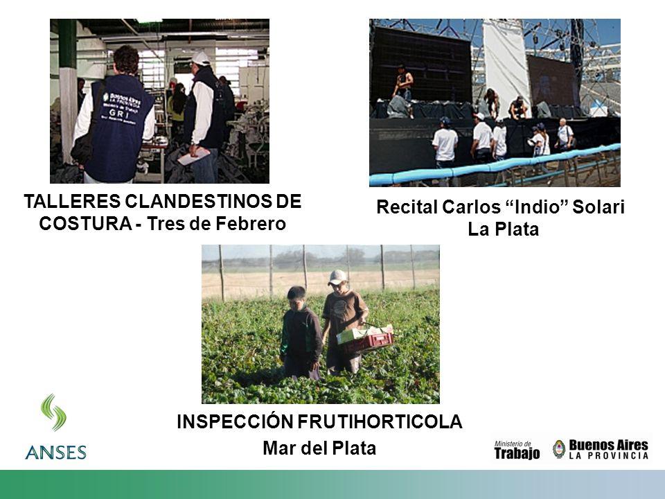 TALLERES CLANDESTINOS DE COSTURA - Tres de Febrero Recital Carlos Indio Solari La Plata INSPECCIÓN FRUTIHORTICOLA Mar del Plata