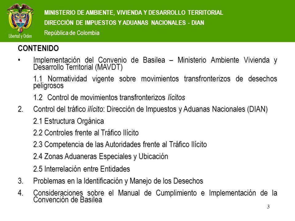 3 MINISTERIO DE AMBIENTE, VIVIENDA Y DESARROLLO TERRITORIAL DIRECCIÒN DE IMPUESTOS Y ADUANAS NACIONALES - DIAN República de Colombia CONTENIDO Impleme