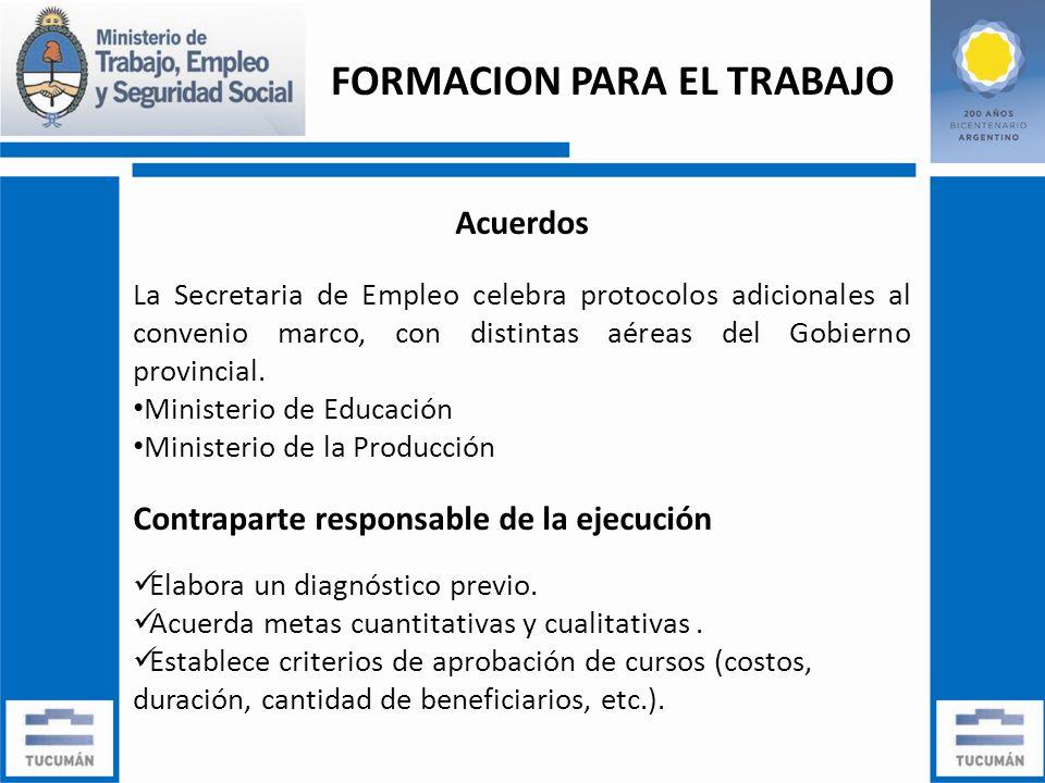 Acuerdos La Secretaria de Empleo celebra protocolos adicionales al convenio marco, con distintas aéreas del Gobierno provincial.