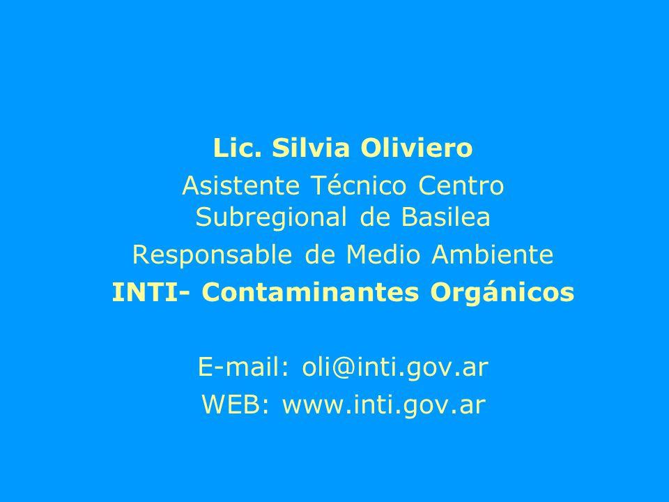 Costos Interlaboratorios a)Valores estimados en Argentina: 70 USD (PCBs en aceites aislantes) b)Valores estimados internacionalmente (Europa) 700-600 USD