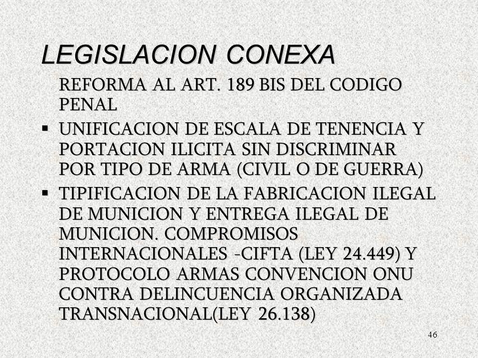 46 LEGISLACION CONEXA REFORMA AL ART.