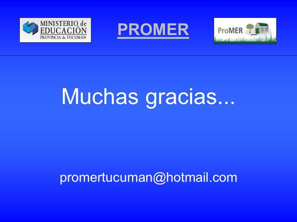 PROMER Muchas gracias... promertucuman@hotmail.com