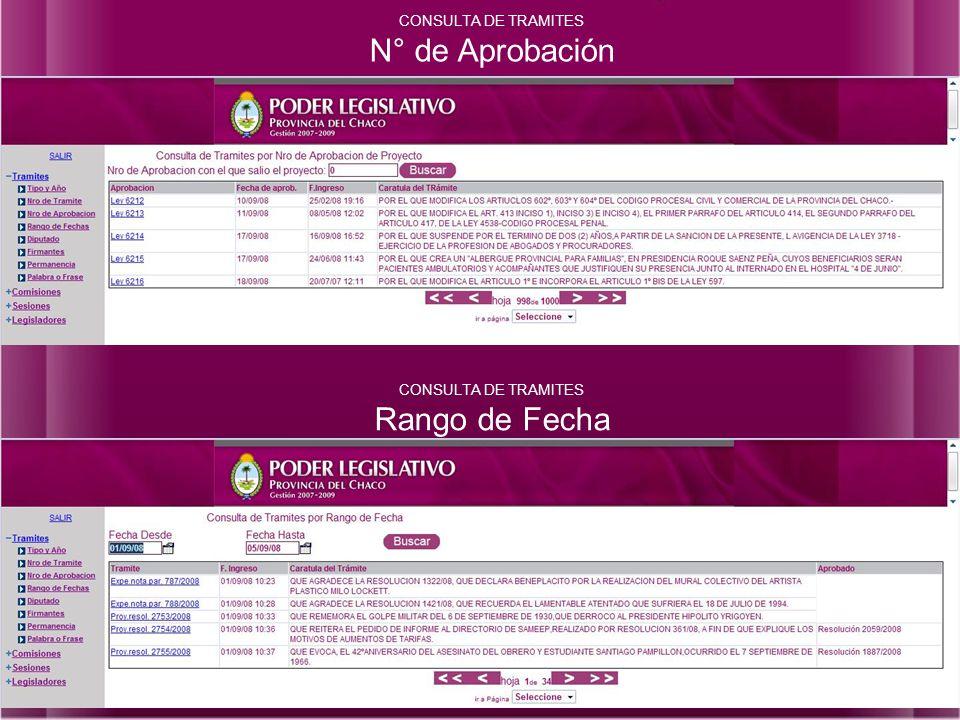 CONSULTA DE TRAMITES Por Diputado CONSULTA DE TRAMITES Por Firmantes
