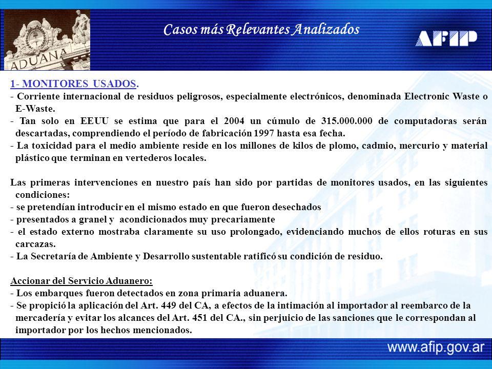 1- MONITORES USADOS. - Corriente internacional de residuos peligrosos, especialmente electrónicos, denominada Electronic Waste o E-Waste. - Tan solo e