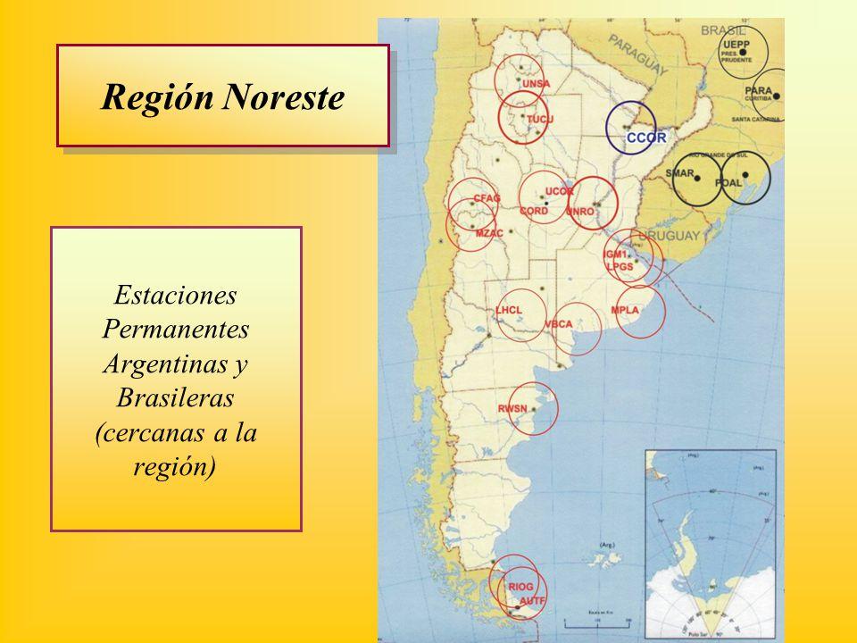 Estaciones Permanentes Argentinas y Brasileras (cercanas a la región) Región Noreste