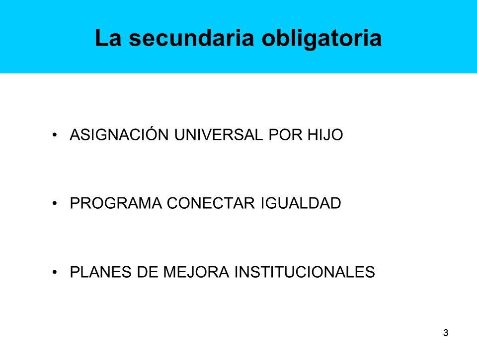 14 Plan de Mejora Institucional: ejes -Propuesta escolar y organización institucional: Desarrollo de propuestas de enseñanza de los núcleos de aprendizaje.