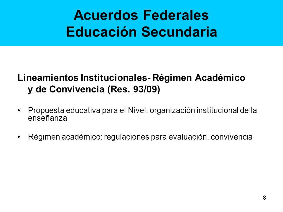99 Acuerdos Federales Educación Secundaria Pautas Federales para la movilidad estudiantil en la educación obligatoria (Res.