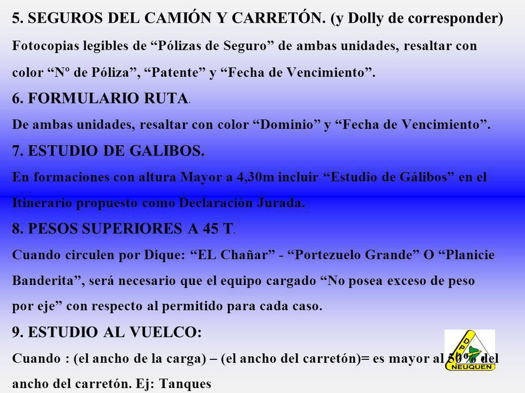 5.SEGUROS DEL CAMIÓN Y CARRETÓN.