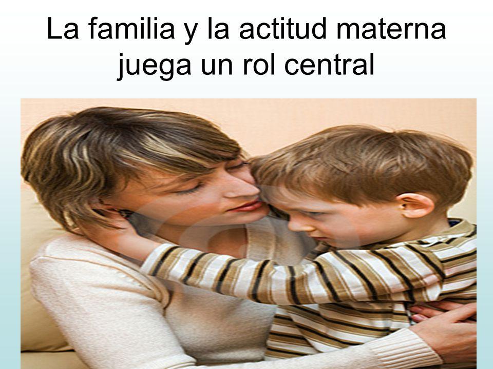 La familia y la actitud materna juega un rol central