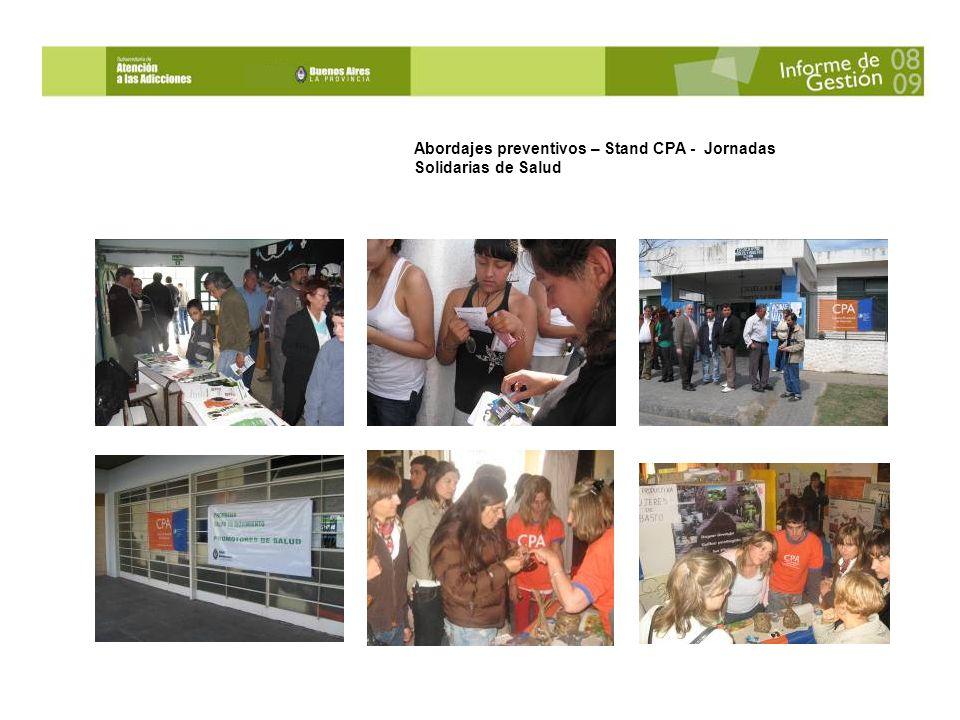 Abordajes preventivos – Stand CPA - Jornadas Solidarias de Salud