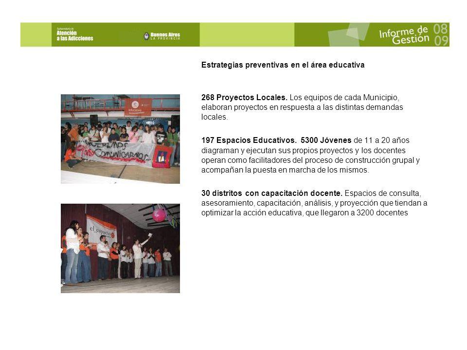 Estrategias preventivas en el área educativa 268 Proyectos Locales.