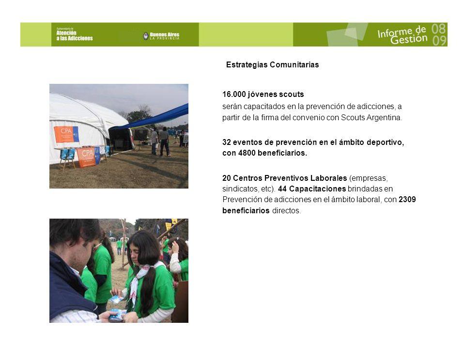 Estrategias Comunitarias 16.000 jóvenes scouts serán capacitados en la prevención de adicciones, a partir de la firma del convenio con Scouts Argentina.
