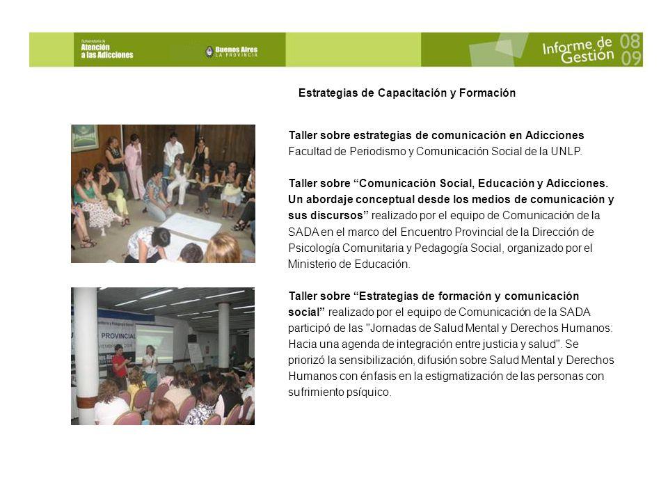 Taller sobre estrategias de comunicación en Adicciones Facultad de Periodismo y Comunicación Social de la UNLP.