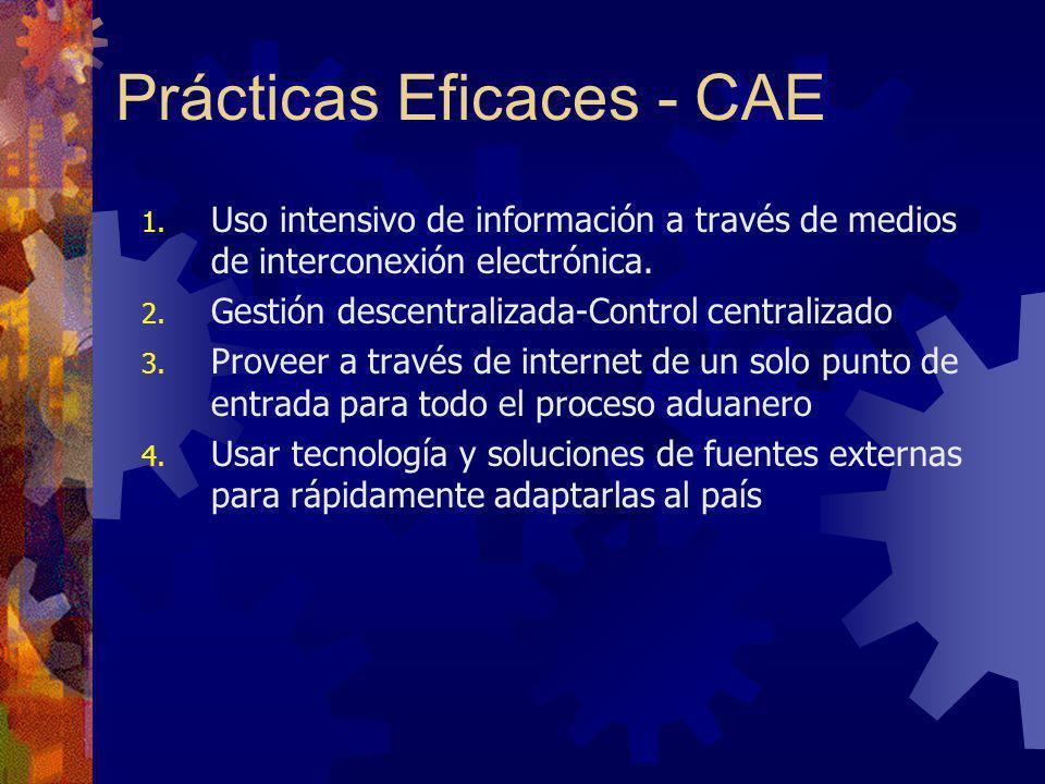 Prácticas Eficaces - CAE 1. Uso intensivo de información a través de medios de interconexión electrónica. 2. Gestión descentralizada-Control centraliz