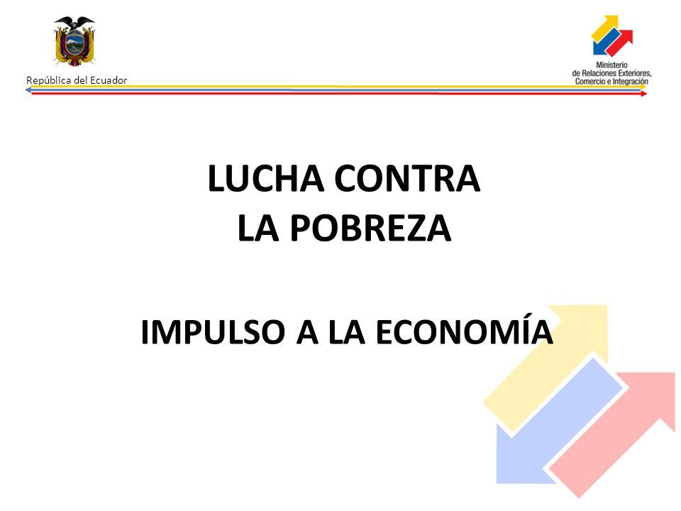 República del Ecuador Inversión pública con respecto al PIB (%) En los cinco años duplicamos la inversión pública.