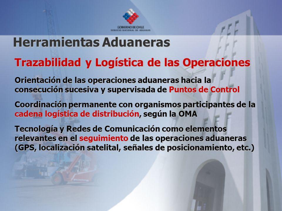 Trazabilidad y Logística de las Operaciones Orientación de las operaciones aduaneras hacia la consecución sucesiva y supervisada de Puntos de Control