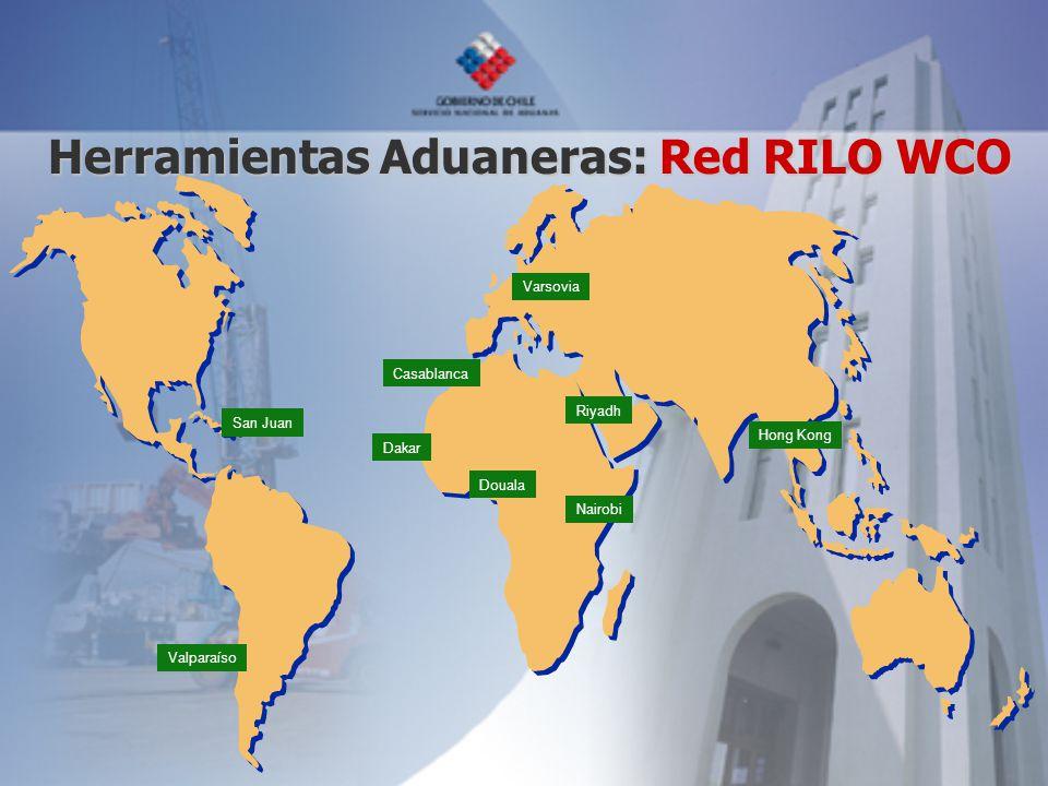 San Juan Valparaíso Casablanca Dakar Nairobi Hong Kong Varsovia Douala Riyadh Herramientas Aduaneras: Red RILO WCO