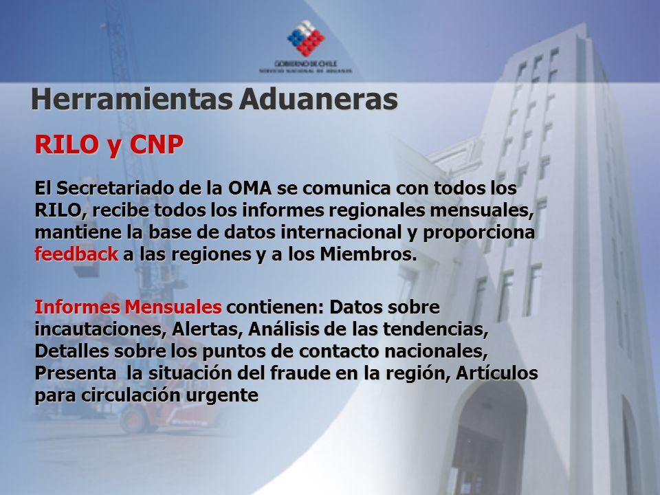 RILO y CNP El Secretariado de la OMA se comunica con todos los RILO, recibe todos los informes regionales mensuales, mantiene la base de datos interna