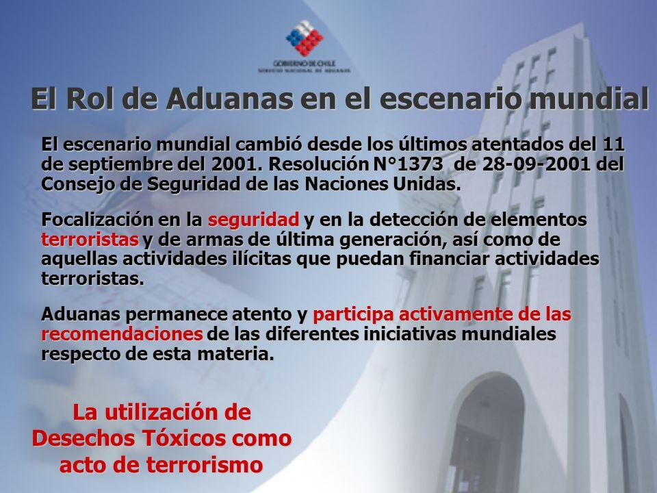 El Rol de Aduanas en el escenario mundial El escenario mundial cambió desde los últimos atentados del 11 de septiembre del 2001. Resolución N°1373 de