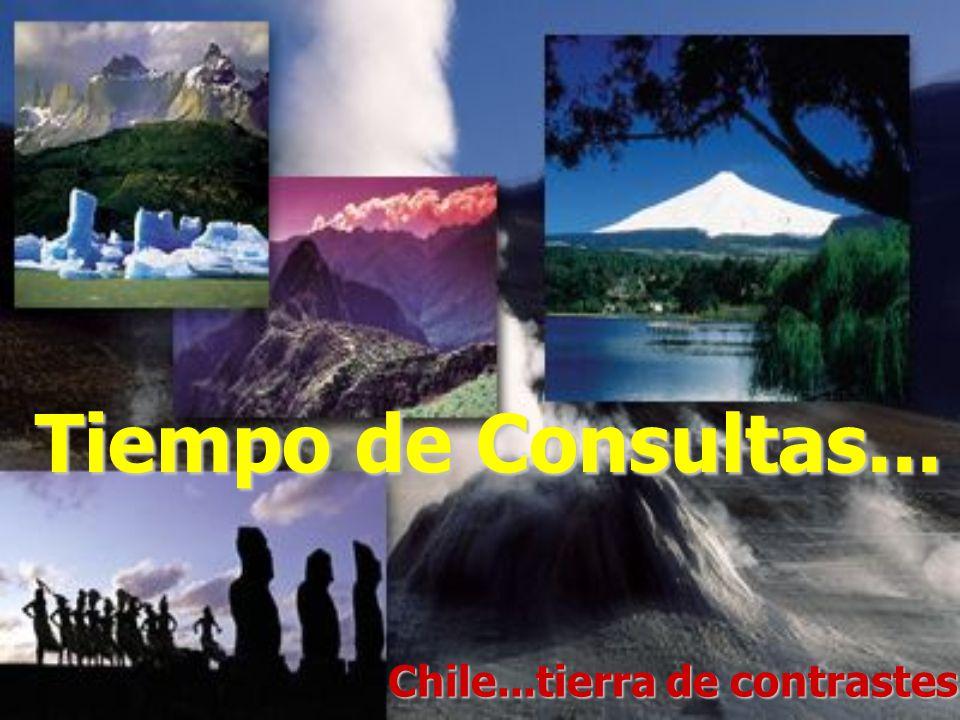 Tiempo de Consultas... Chile...tierra de contrastes