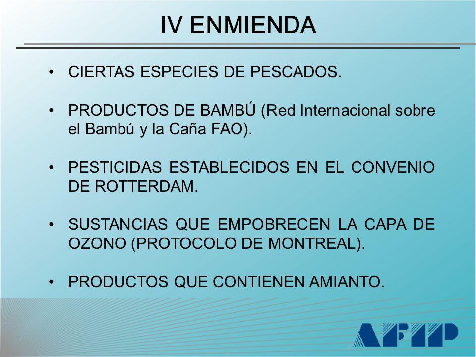 CIERTAS ESPECIES DE PESCADOS. PRODUCTOS DE BAMBÚ (Red Internacional sobre el Bambú y la Caña FAO).