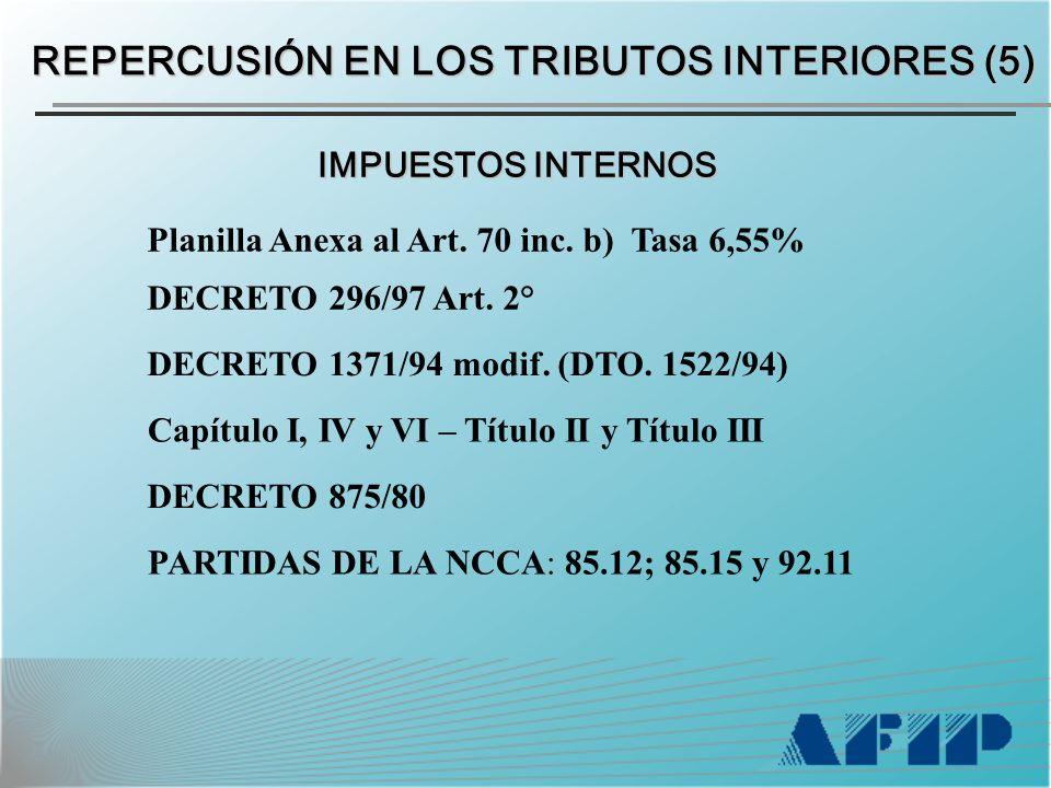 Planilla Anexa al Art. 70 inc. b) Tasa 6,55% DECRETO 296/97 Art.