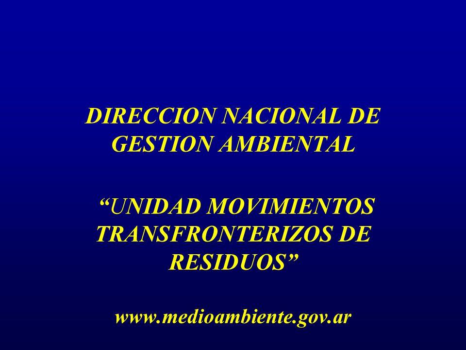 Unidad de Residuos Peligrosos -DNGA- Habilitaciones de categoría ej.