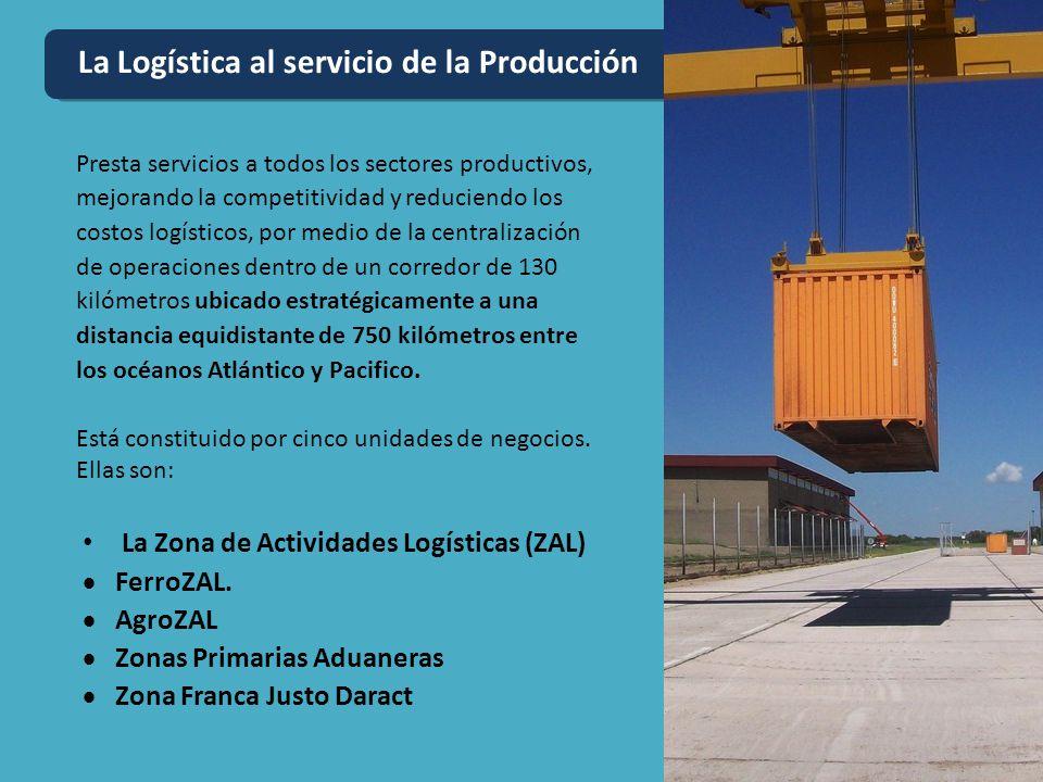 La Zona de Actividades Logísticas (ZAL) FerroZAL. AgroZAL Zonas Primarias Aduaneras Zona Franca Justo Daract La Logística al servicio de la Producción