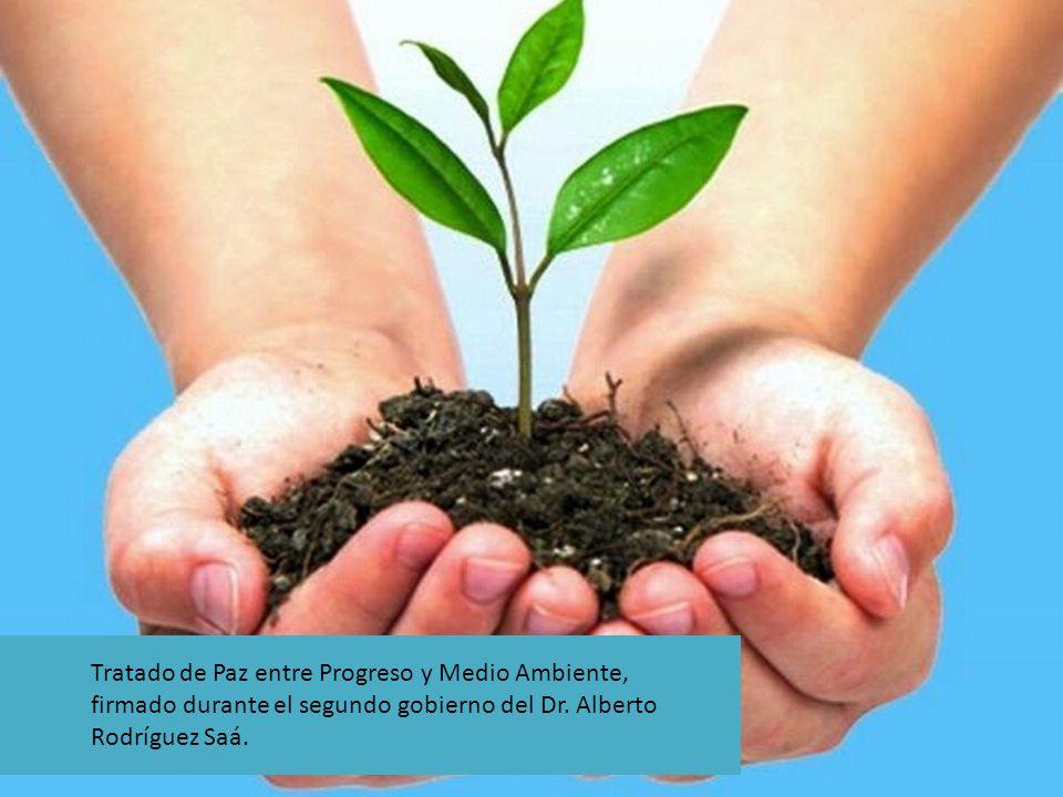 Tratado de Paz entre Progreso y Medio Ambiente, firmado durante el segundo gobierno del Dr. Alberto Rodríguez Saá.