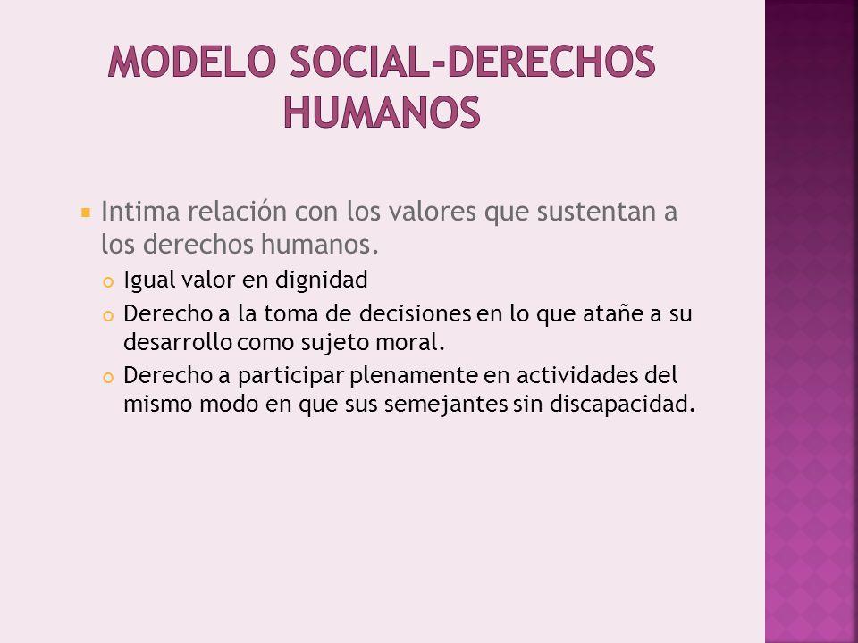 Intima relación con los valores que sustentan a los derechos humanos.