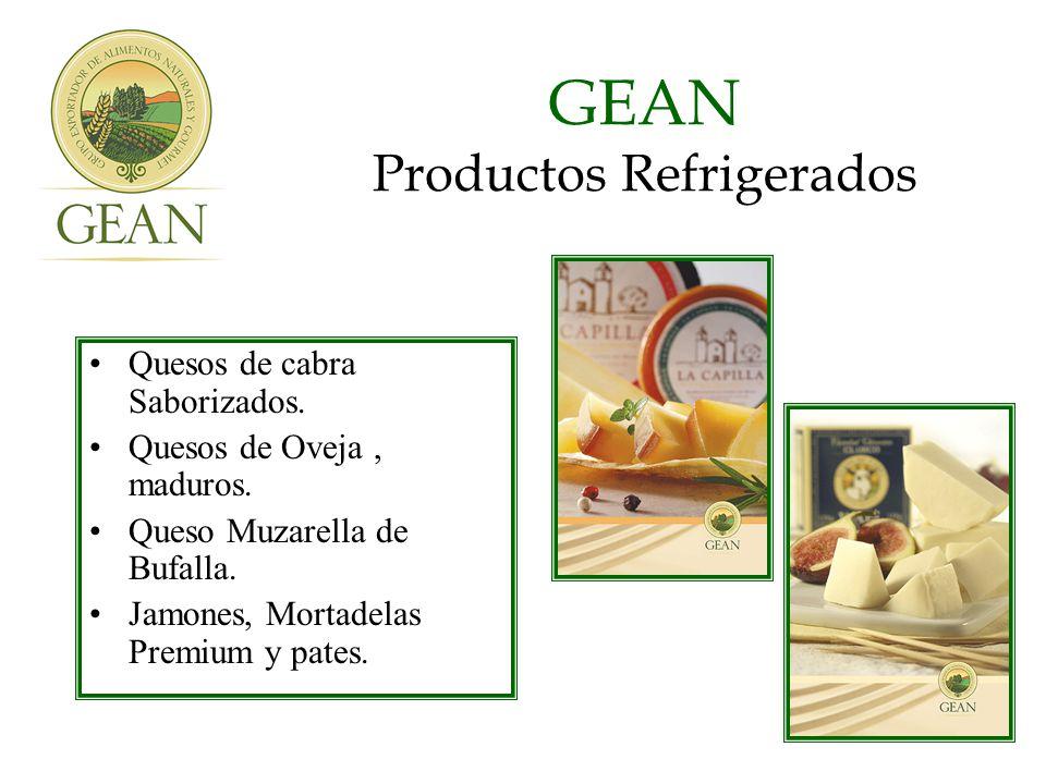 GEAN Productos Refrigerados Quesos de cabra Saborizados.
