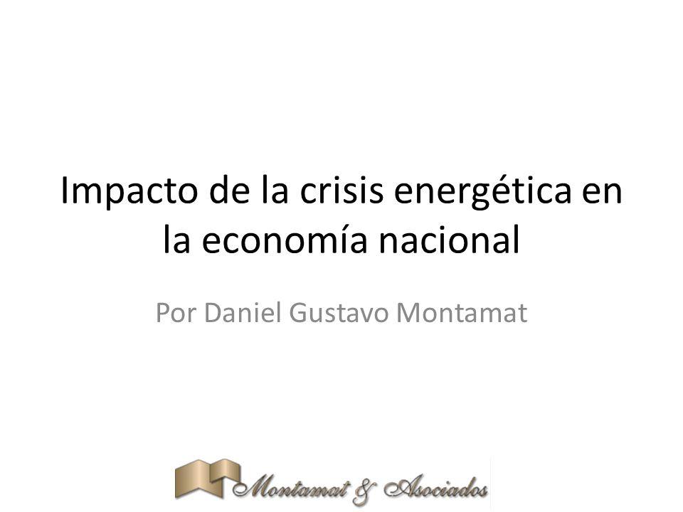 Impacto de la crisis energética en la economía nacional Por Daniel Gustavo Montamat