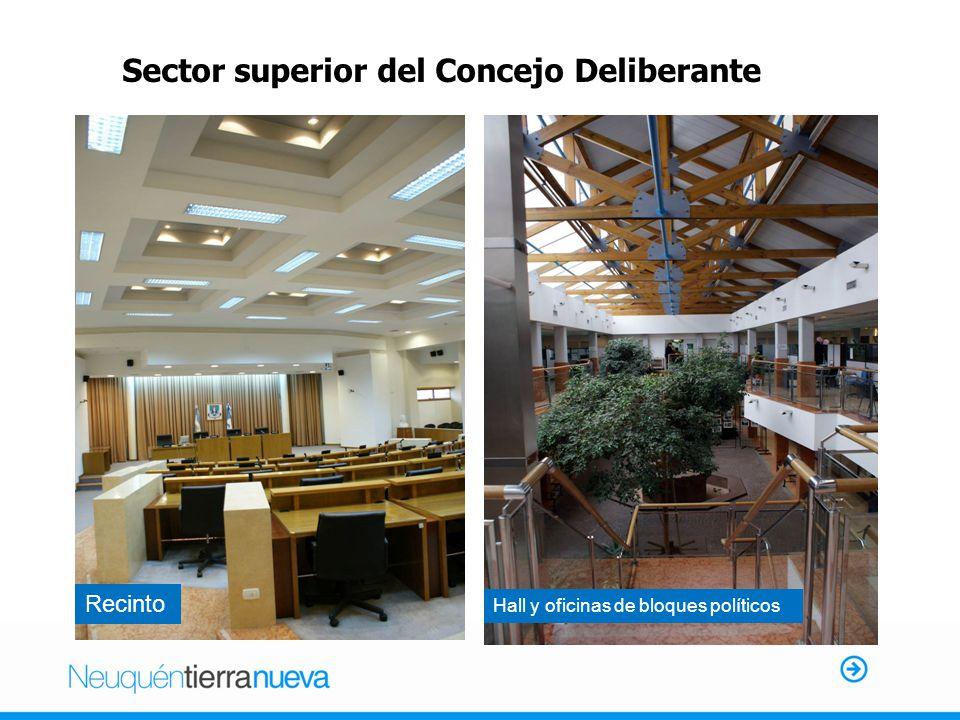 Hall y oficinas de bloques políticos Sector superior del Concejo Deliberante