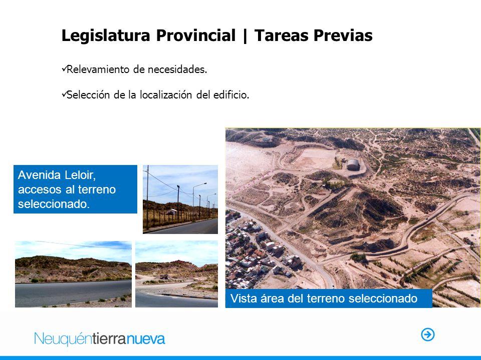 Legislatura Provincial | Tareas Previas Relevamiento de necesidades.