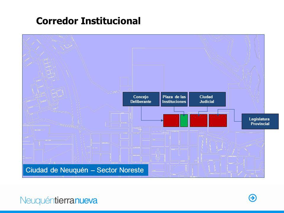Concejo Deliberante Plaza de las Instituciones Ciudad Judicial Legislatura Provincial Corredor Institucional Ciudad de Neuquén – Sector Noreste