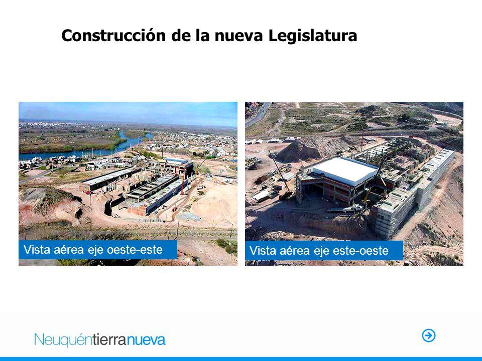 Construcción de la nueva Legislatura Vista aérea eje oeste-este Vista aérea eje este-oeste