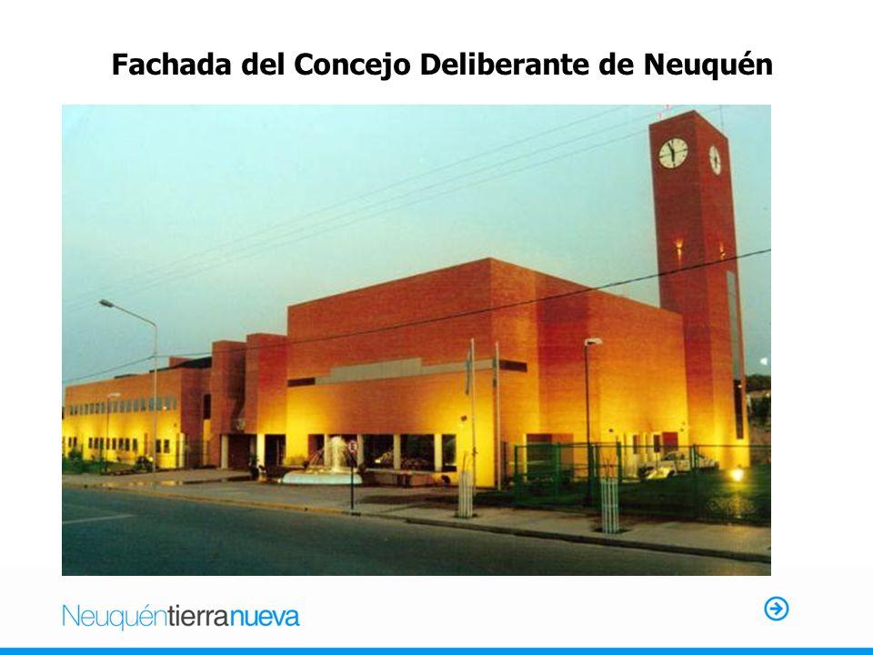 Fachada del Concejo Deliberante de Neuquén