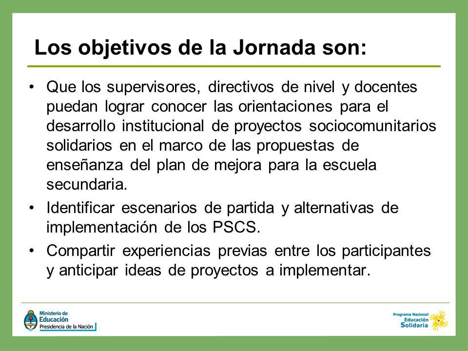 Que los supervisores, directivos de nivel y docentes puedan lograr conocer las orientaciones para el desarrollo institucional de proyectos sociocomuni