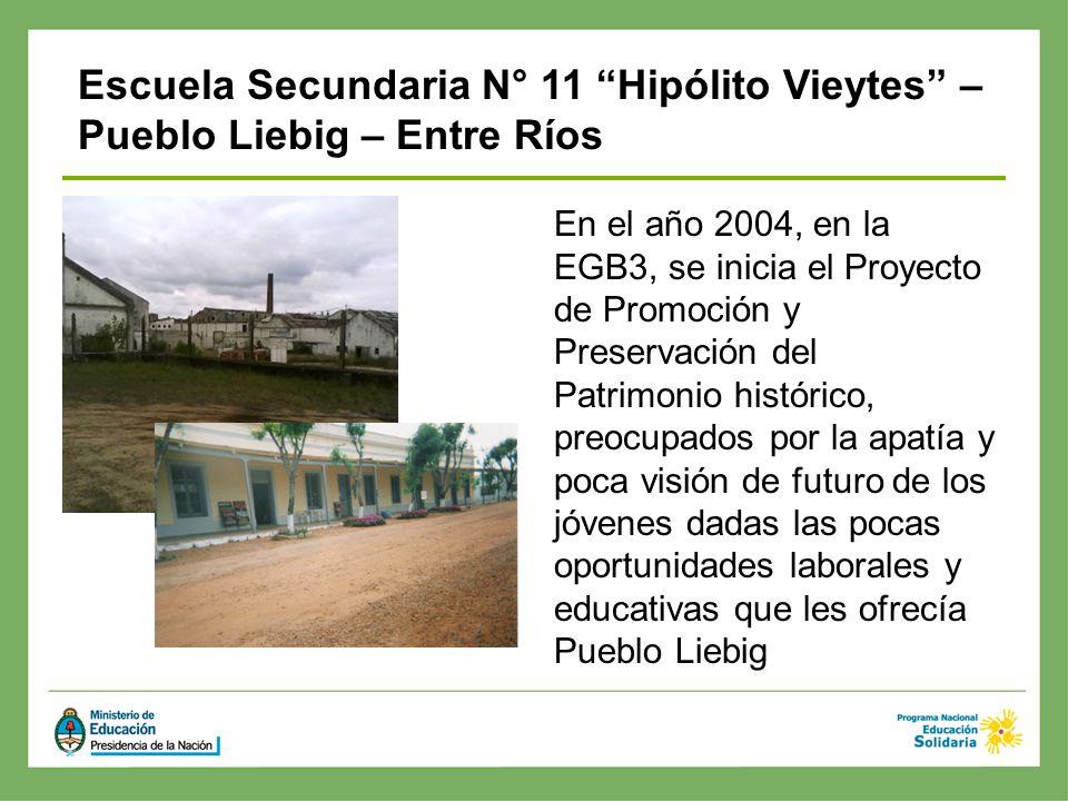En el año 2004, en la EGB3, se inicia el Proyecto de Promoción y Preservación del Patrimonio histórico, preocupados por la apatía y poca visión de fut